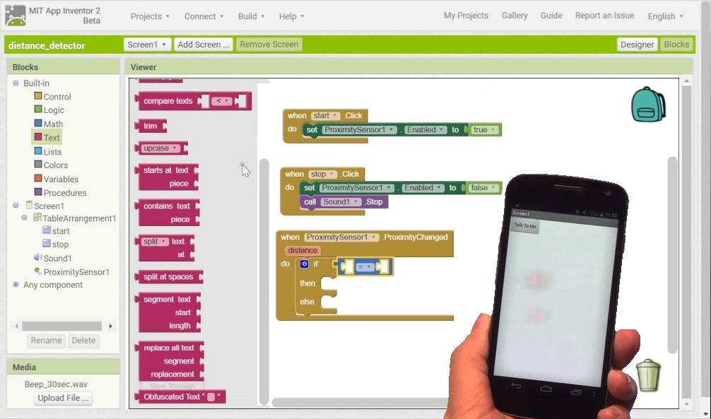 Progettazione con App Inventor 2